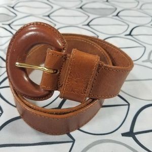 Anne Klein for Calderon Brown Leather Belt Size M